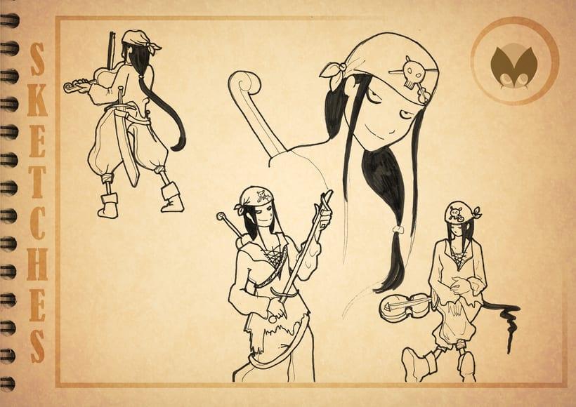 Bocetos manga 7