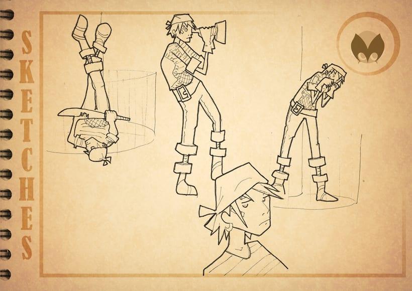 Bocetos manga 13