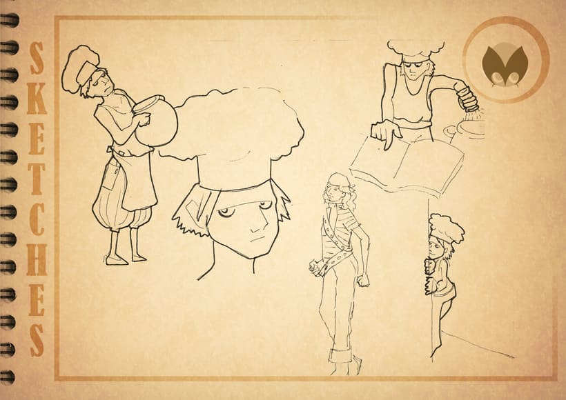 Bocetos manga 14