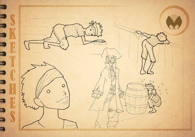 Bocetos manga 15