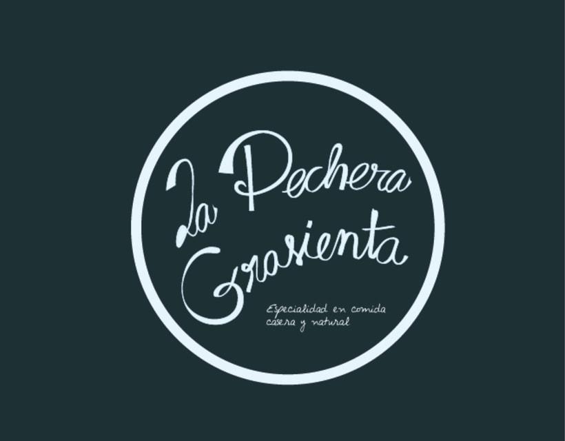 Imagen corporativa para el bar La Pechera Grasienta 0