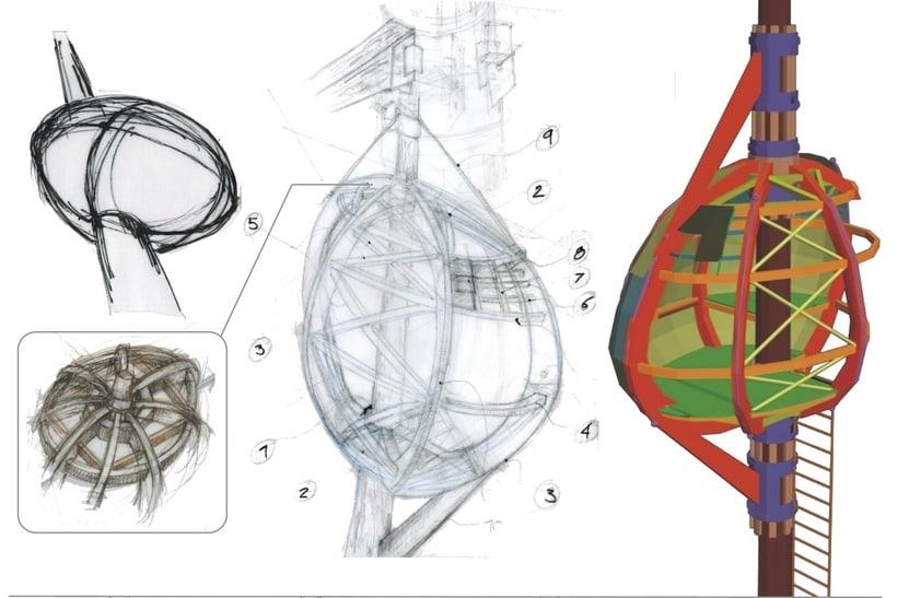 """Proyecto Construcción (Madera). """"Cabaña en el árbol"""" 0"""