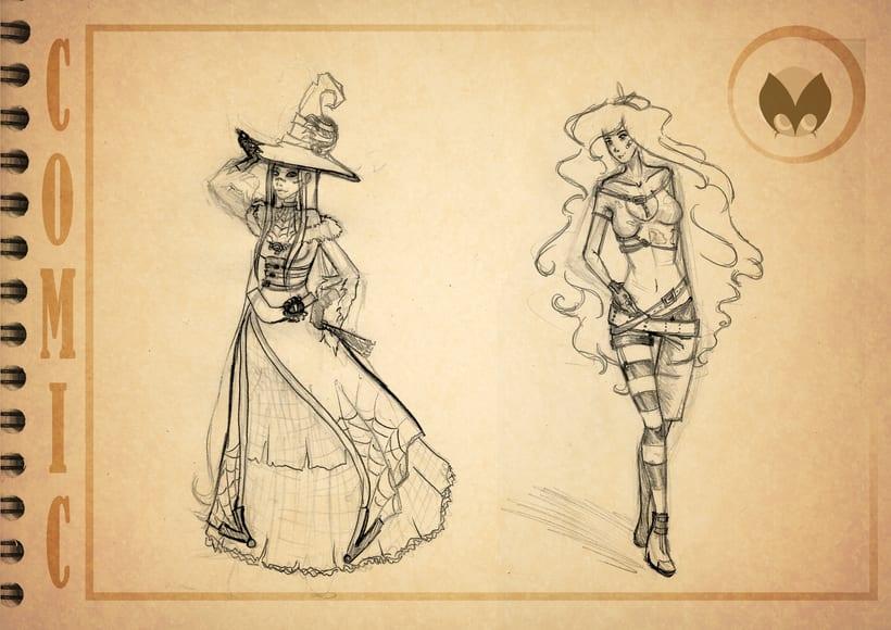 Bocetos manga 1