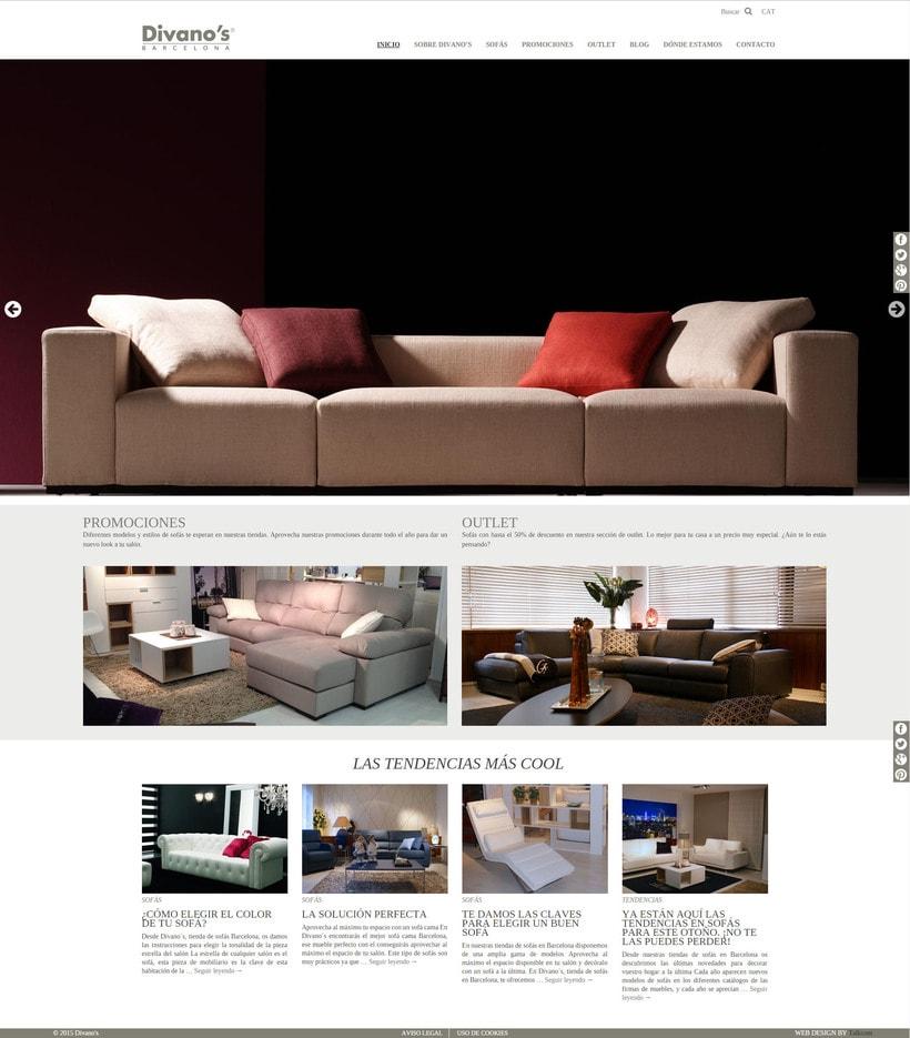 Desarrollo nueva web Divano's 2