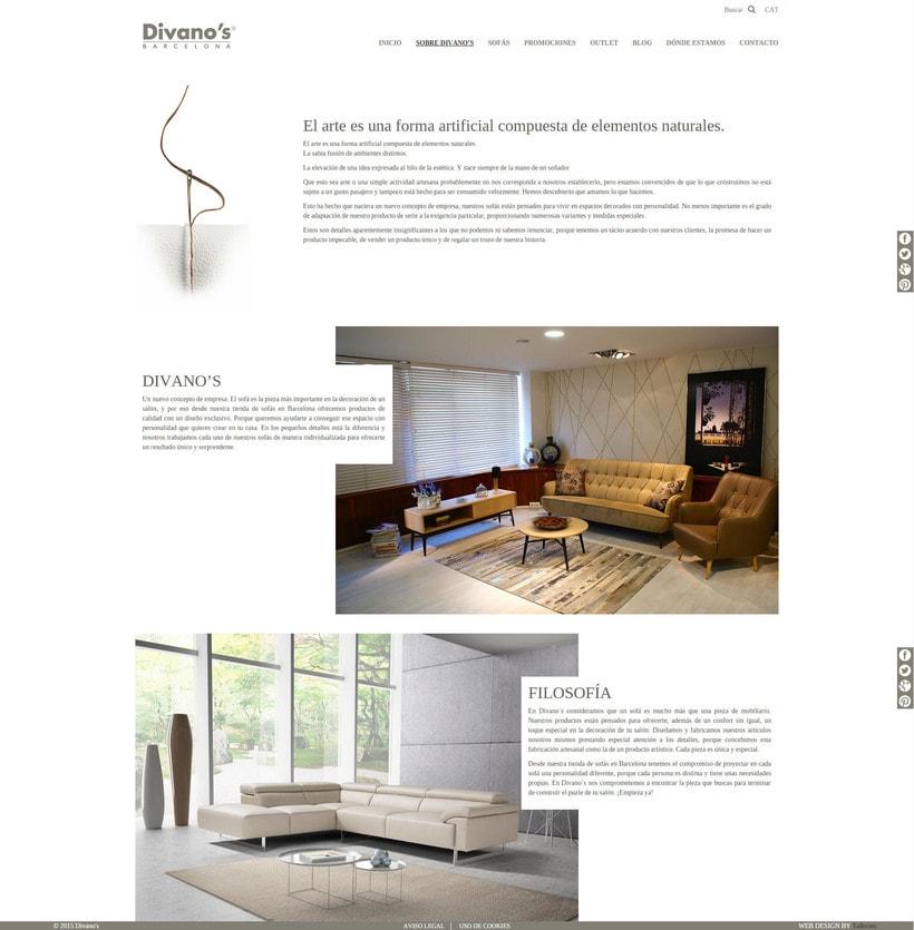 Desarrollo nueva web Divano's 4