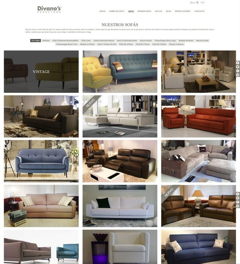 Desarrollo nueva web Divano's 6