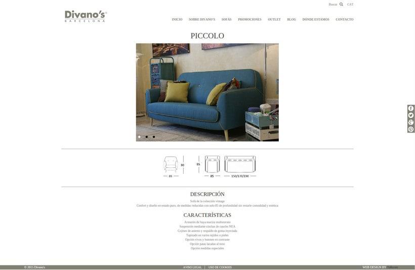 Desarrollo nueva web Divano's 8