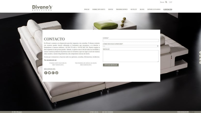 Desarrollo nueva web Divano's 10