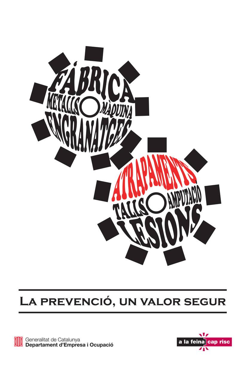 """Línea gráfica """"Prevención de riesgos laborales"""" 4"""