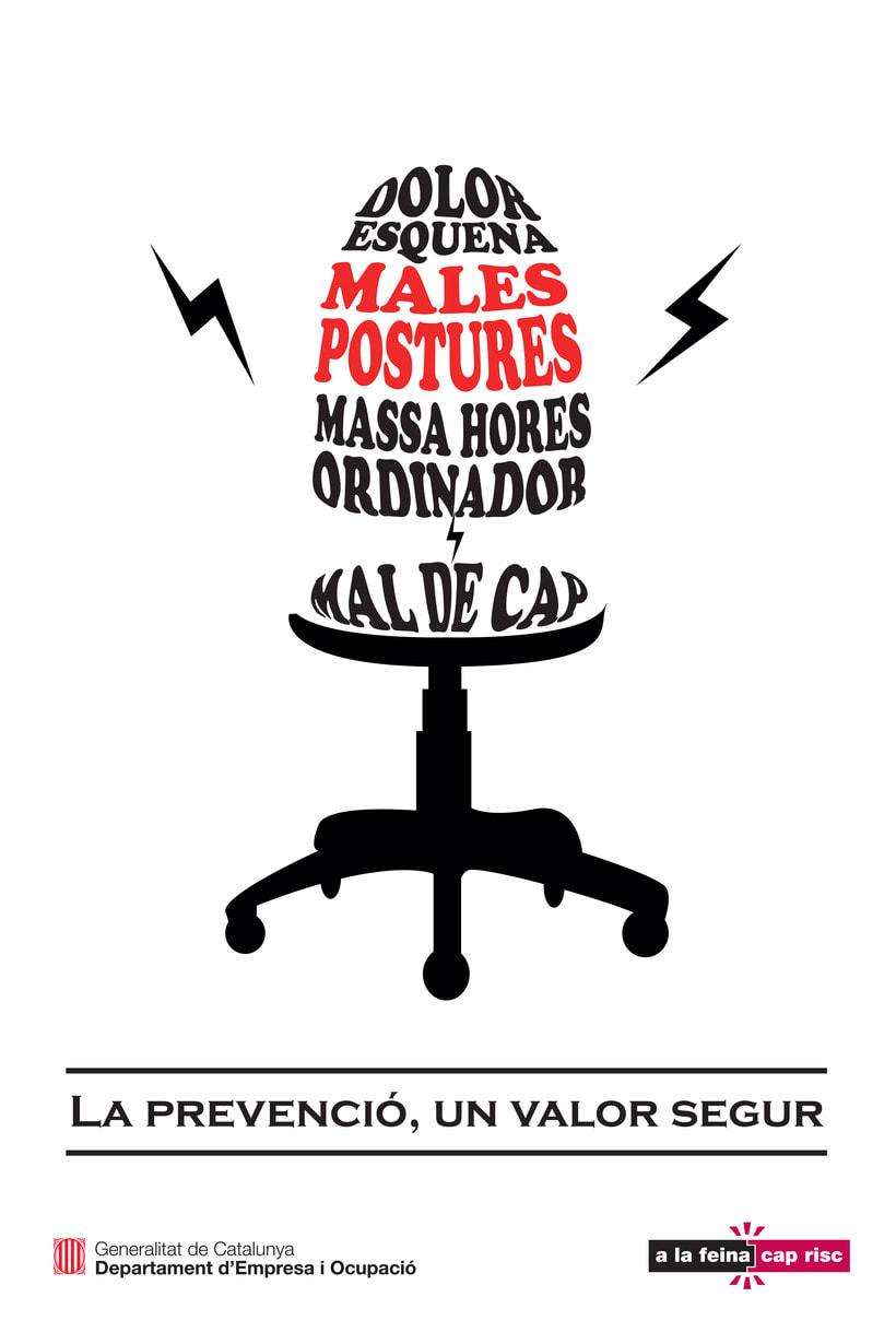 """Línea gráfica """"Prevención de riesgos laborales"""" 2"""