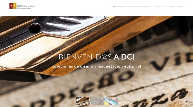 """Diseño Microsite """"Maquetación Editorial"""" de DCI Punto y Coma 0"""