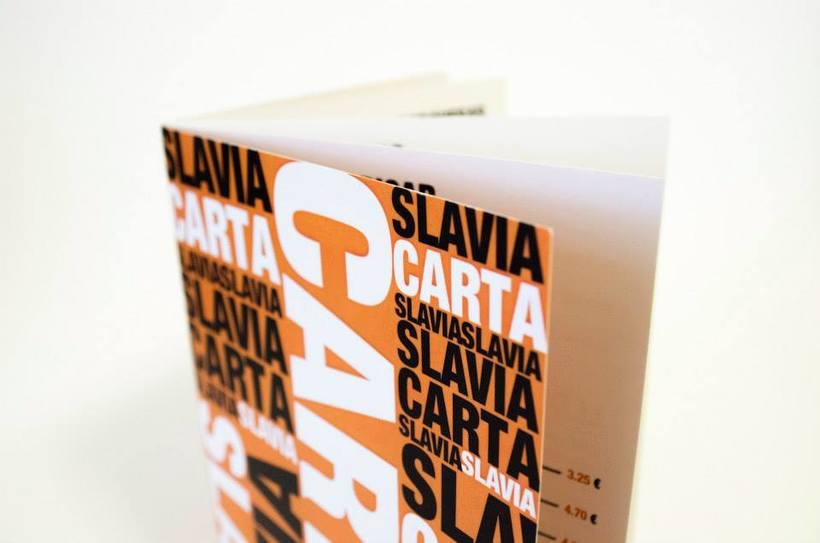 """Slavia"" Carta para el Bar  -1"