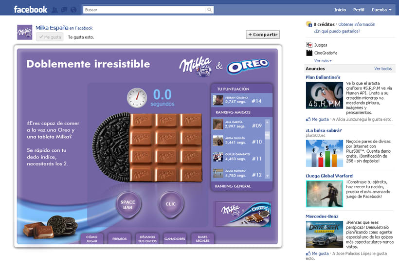 Doblemente Irresistible (Facebook App) 0
