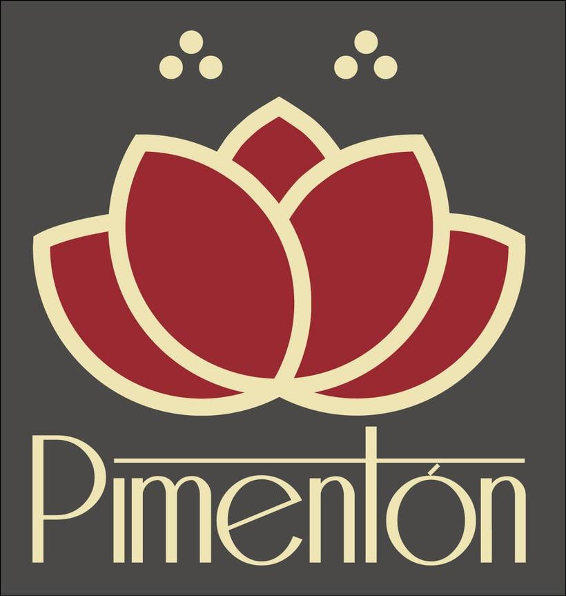 Identidad corporativa Restaurante Pimentón. Logos y cartelería 1