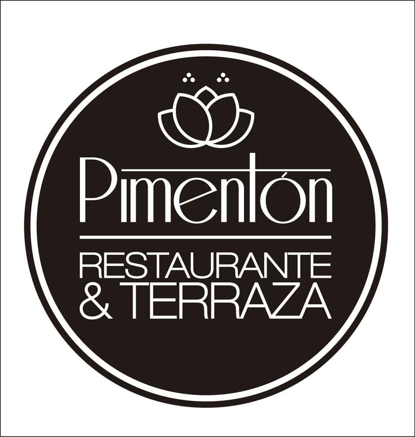 Identidad corporativa Restaurante Pimentón. Logos y cartelería 5
