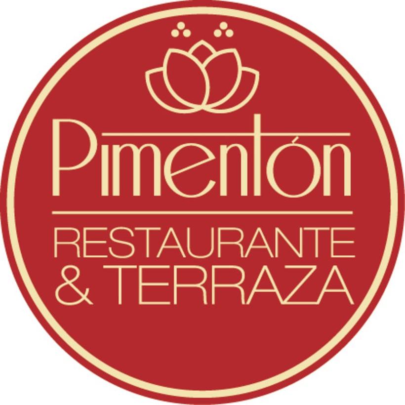 Identidad corporativa Restaurante Pimentón. Logos y cartelería 2