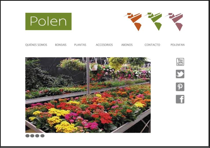 Web para viveros Polen -1