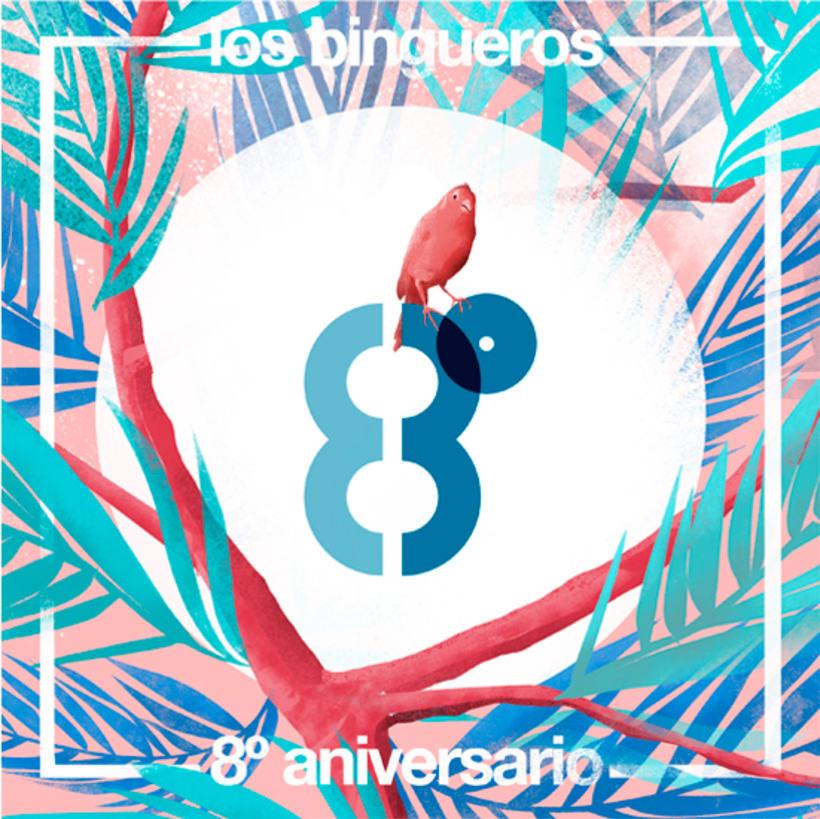 Los Bingueros, su clasiconjunto posmoderno. Concierto Octavo Aniversario. 1
