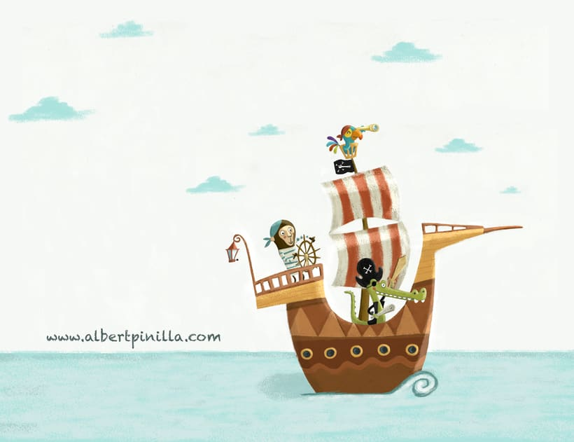 Ilustración Piratas Albert Pinilla -1