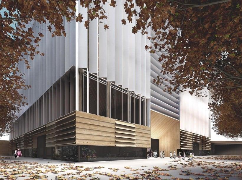 Biblioteca y guardería en Barcelona, colaboración con SUMA arquitectura 0