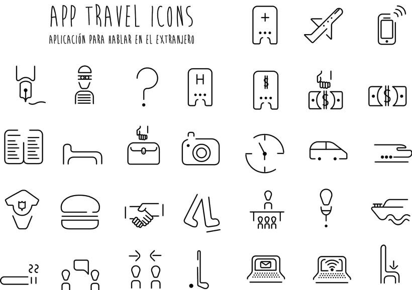 Iconos para una App de viaje 0