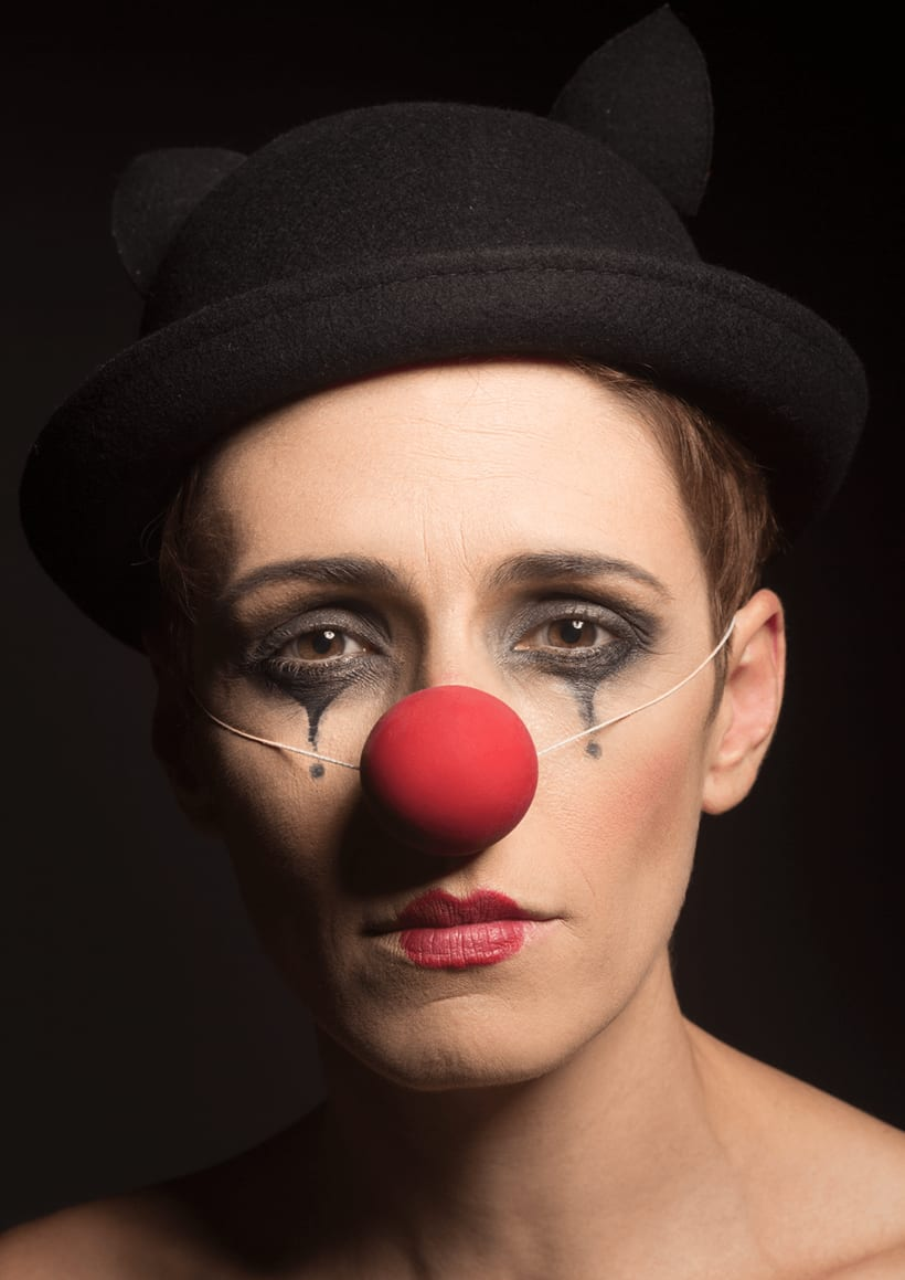 Retrato de una clown -1