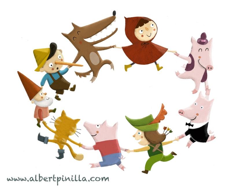 Ilustración personajes de cuentos Albert Pinilla -1