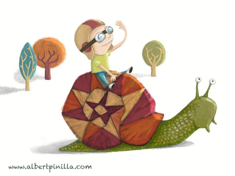 Ilustración niño caracol Albert Pinilla -1