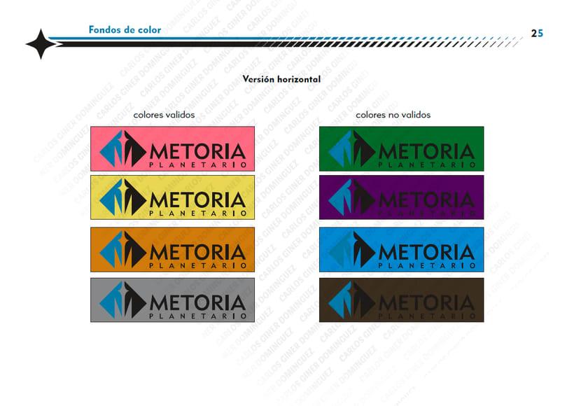 Manual de Identidad - Planetario Metoria 9
