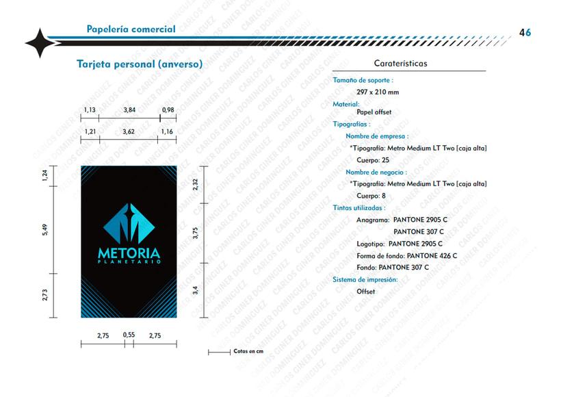 Manual de Identidad - Planetario Metoria 14