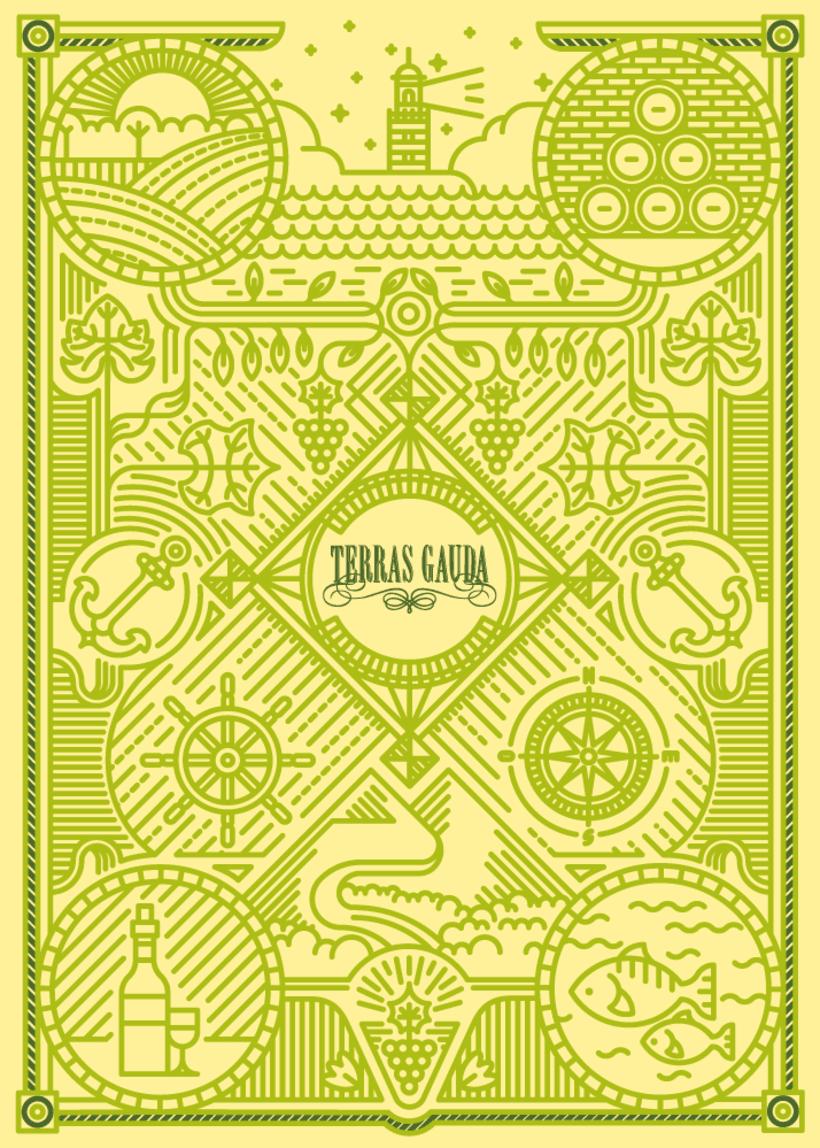 Cartel Terras Gauda 2015. Viñas y Líneas 2