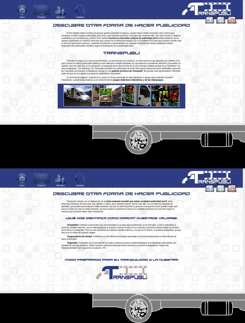 Desarrollo página Web empresa TranspubliNuevo proyecto -1