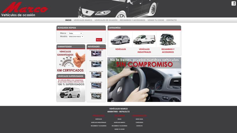 Desarrollo página Web Vehículos Marco -1