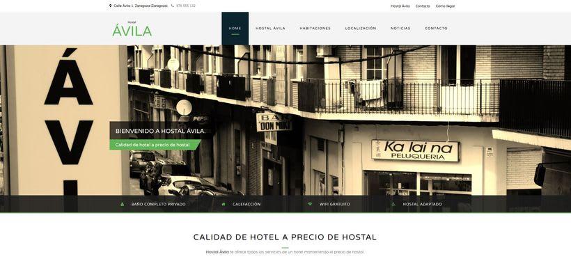 Desarrollo página web Hostal Ávila 0