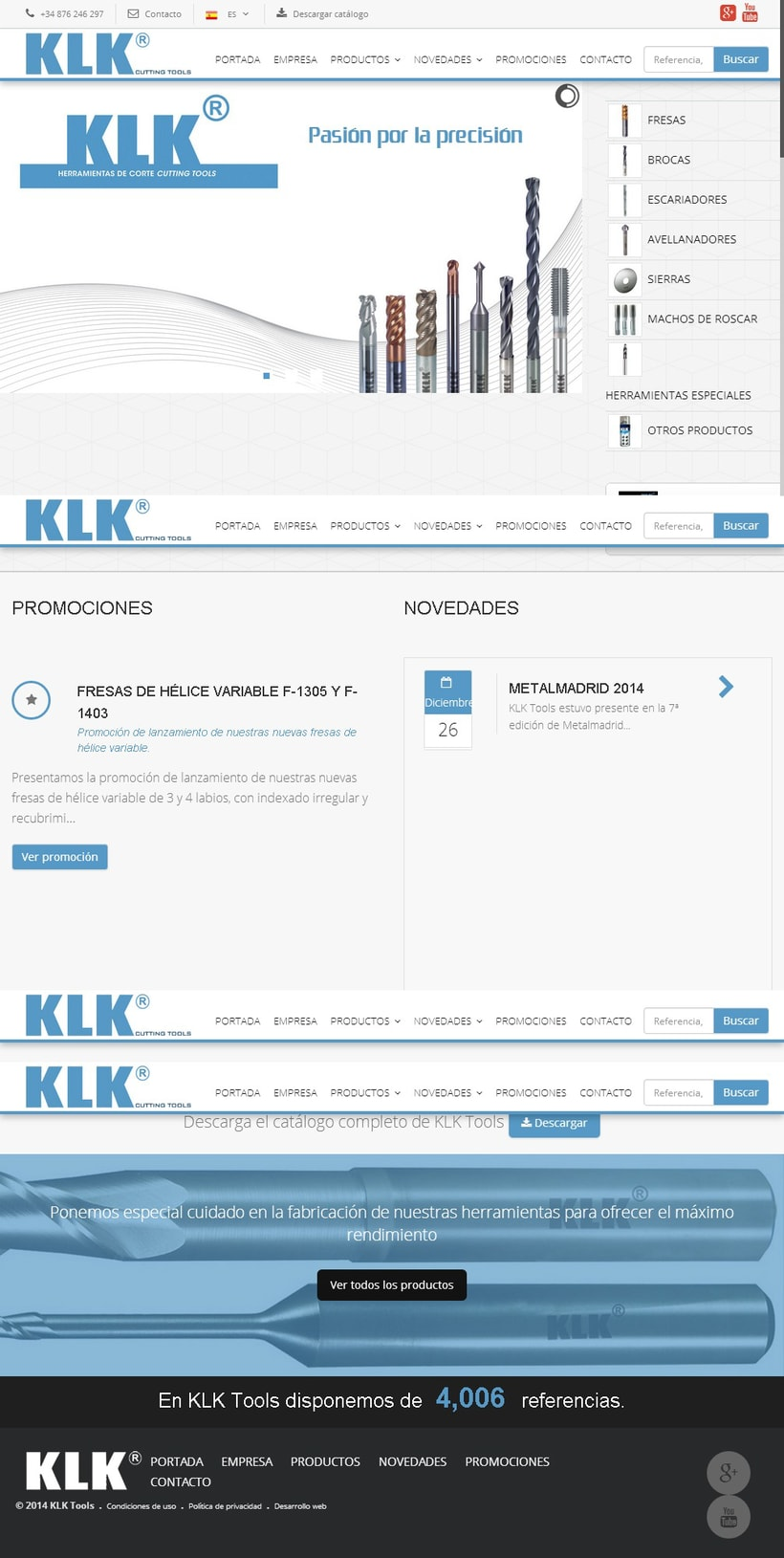Desarrollo web catálogo online KLK Tools 0