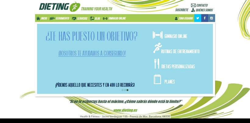Desarrollo web Dieting.es 0