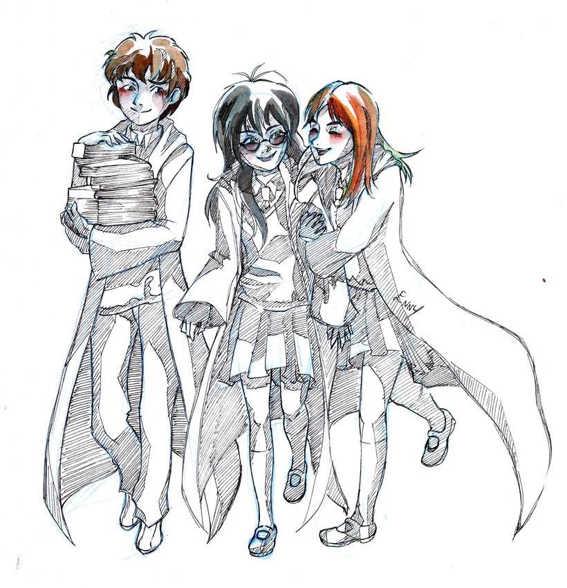 Hermione, Harry y Ron (GenderBender) -1