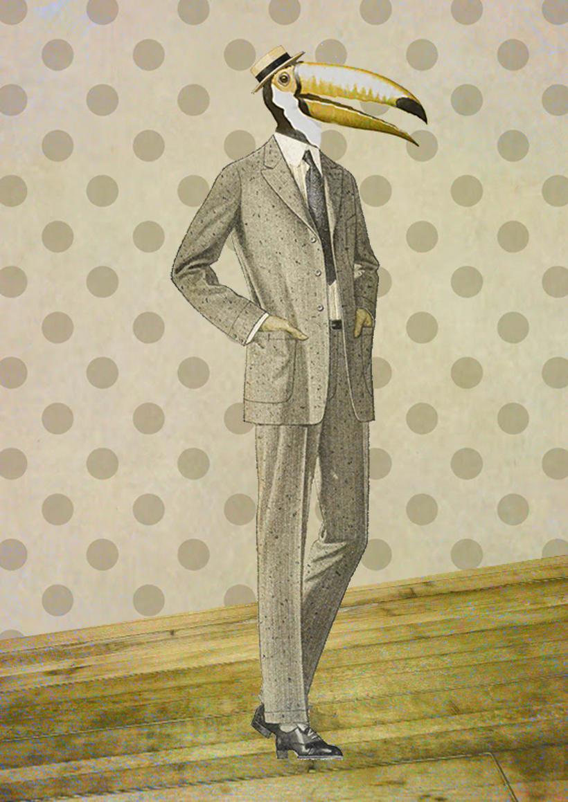 Tucan y Hombre / Collage 0