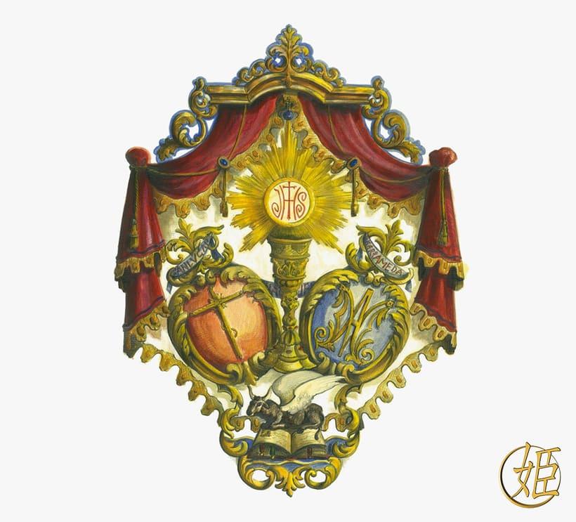 Sanlucar Barrameda's ensign - 3D model -1
