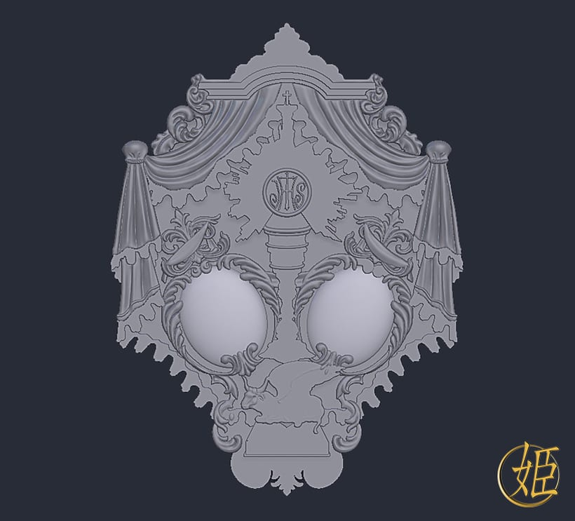 Sanlucar Barrameda's ensign - 3D model 0