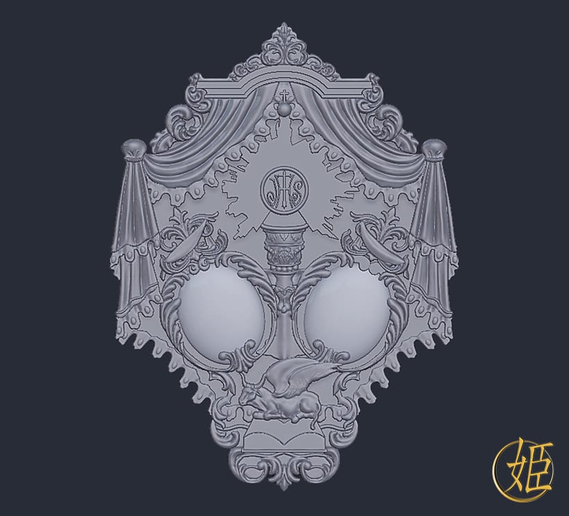 Sanlucar Barrameda's ensign - 3D model 1