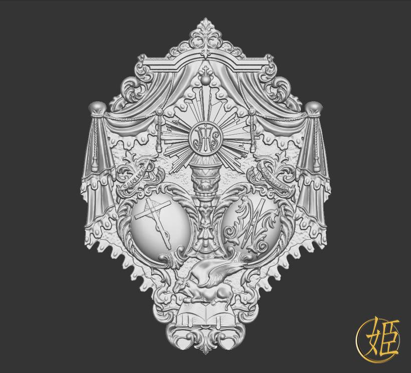 Sanlucar Barrameda's ensign - 3D model 2