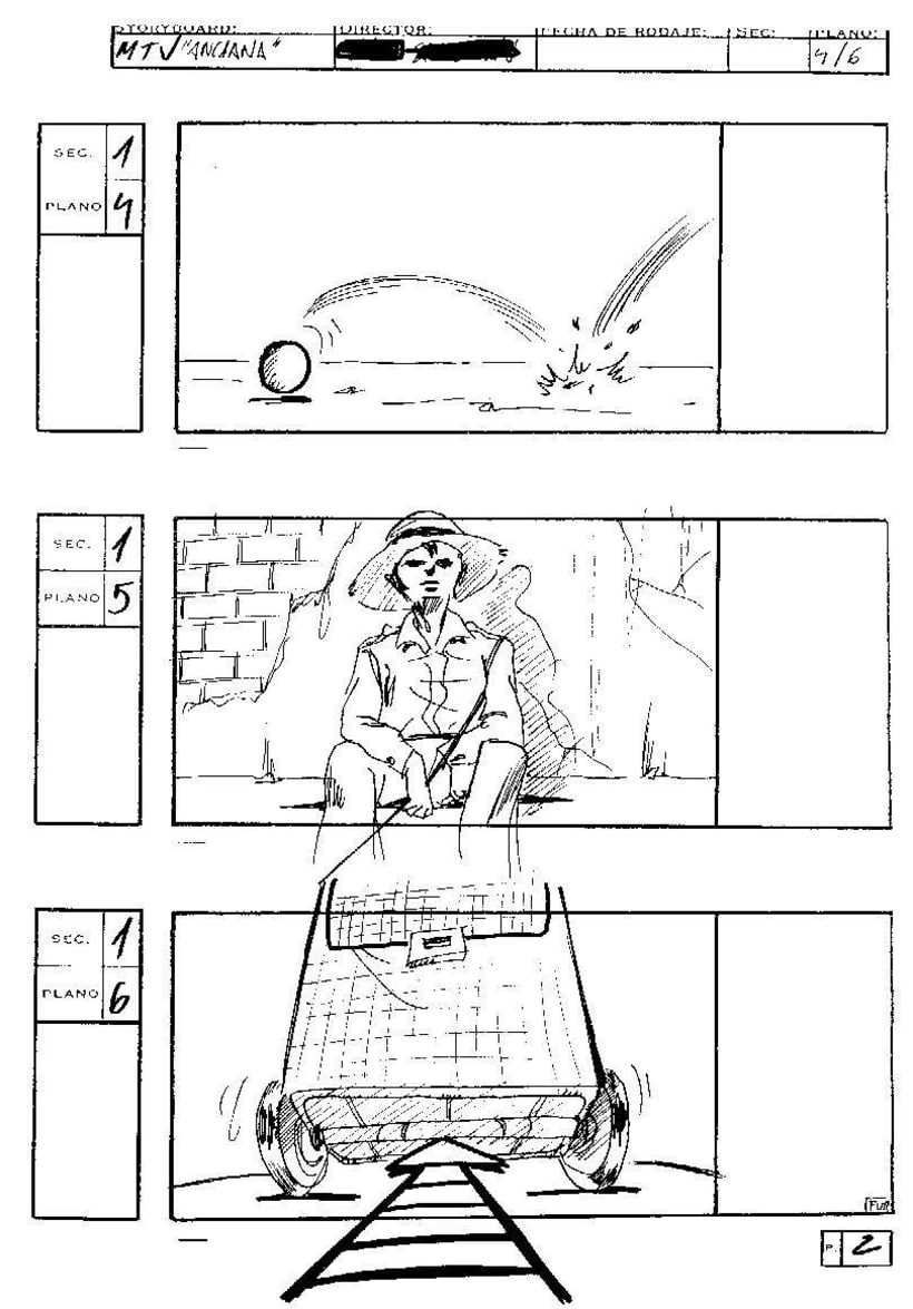 "Storyboard, Spot MTV, ""Pandereta"" -1"
