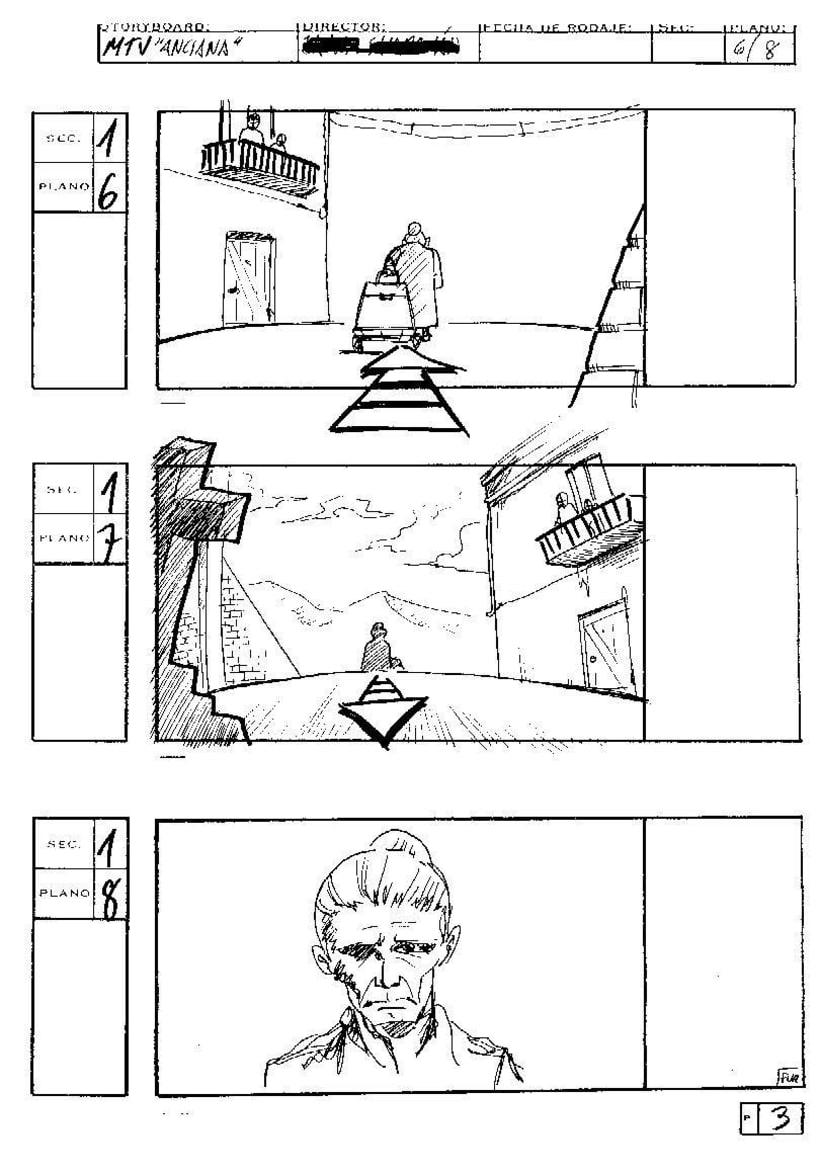 "Storyboard, Spot MTV, ""Pandereta"" 0"