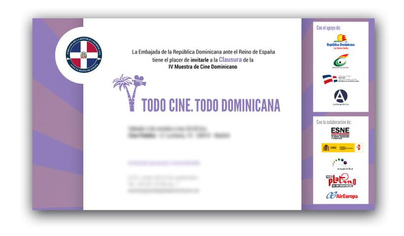"Diseño de materiales para el Festival de cine ""TC TD"" 2"