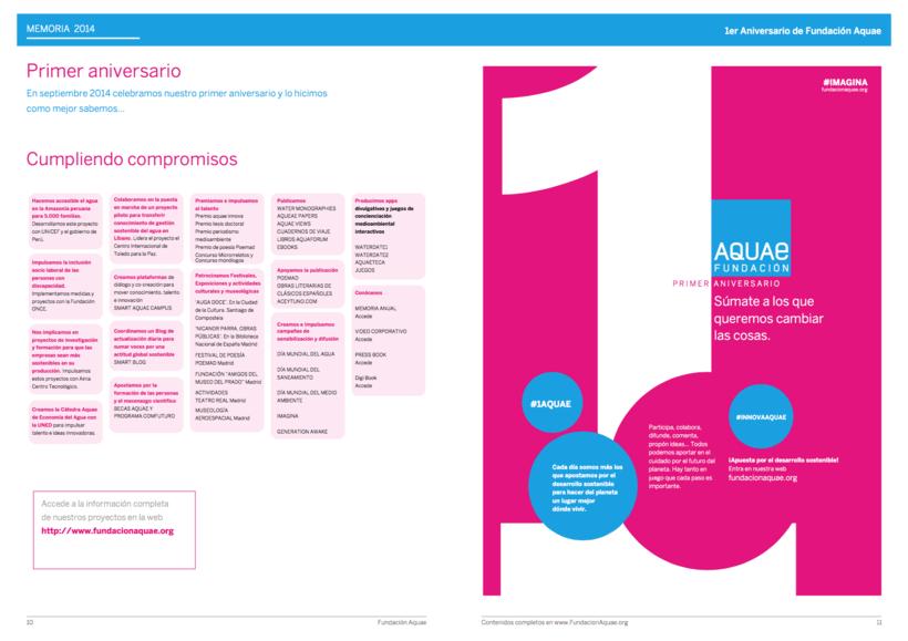 Informe Anual Fundación Aquae 1