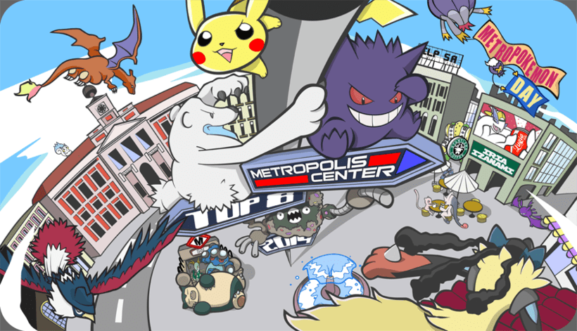Tapete de Juego -  Pokémon Metropolis Center 2014 -1