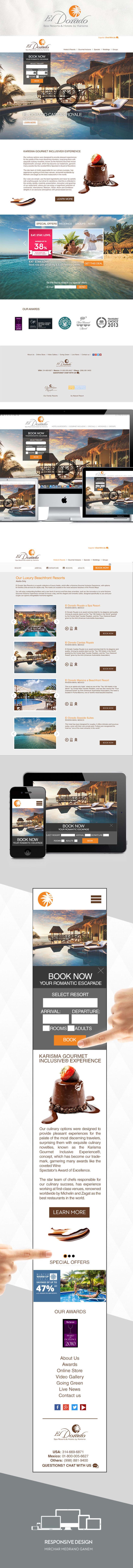 Sitio web El Dorado Spa Resorts & Hotels 0
