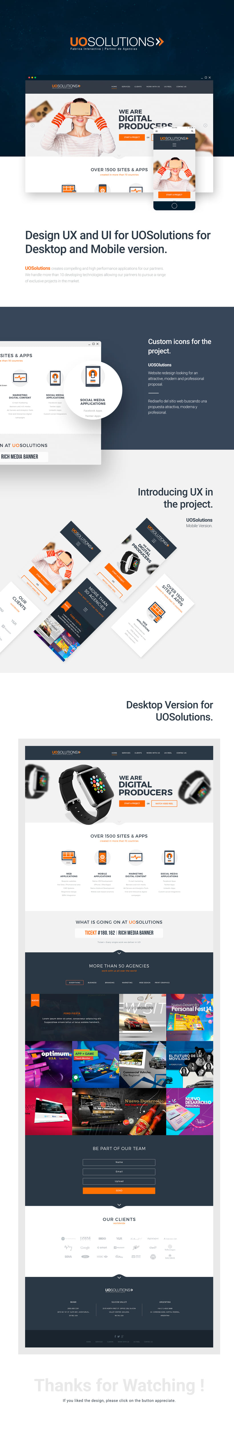 UI & UX for project UOSolutions -1
