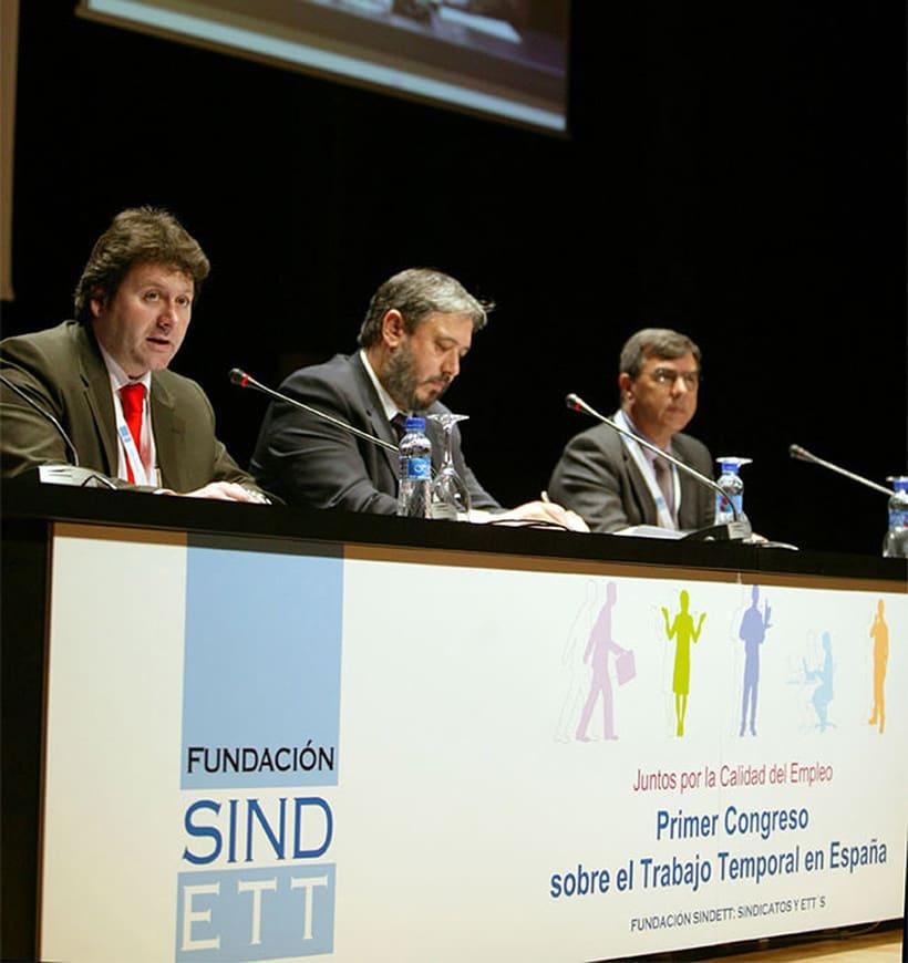Fundación Sindett. Diseño de imagen gráfica para congreso. 0